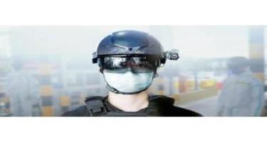 Çində polis şlemləri temperaturu avtomatik ölçür