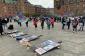 Kopenhagendə Gəncə terroruna etiraz - FOTO