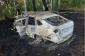 Rusiyada sürücü avtomobilində yandı