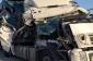 Bakı-Qazax yolunda iki yük avtomobili toqquşub, sürücü yaralanıb - FOTO