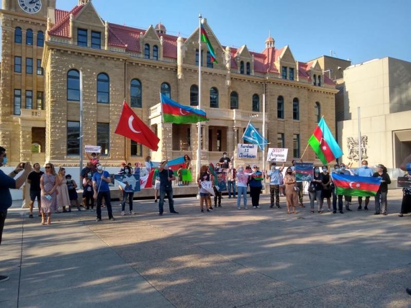 Kanadada Azərbaycan bayrağı ucaldıldı - FOTO