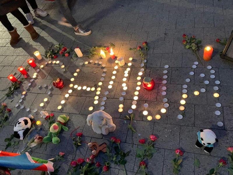 Hannover azərbaycanlıları Gəncə terrorunda həlak olanların xatirəsini yad edib - FOTO
