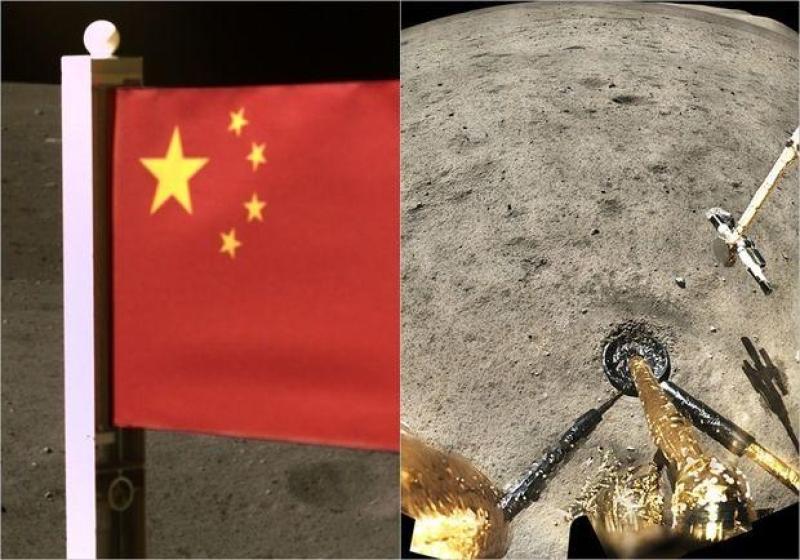 Ayın səthinə Çinin bayrağı sancıldı - FOTO