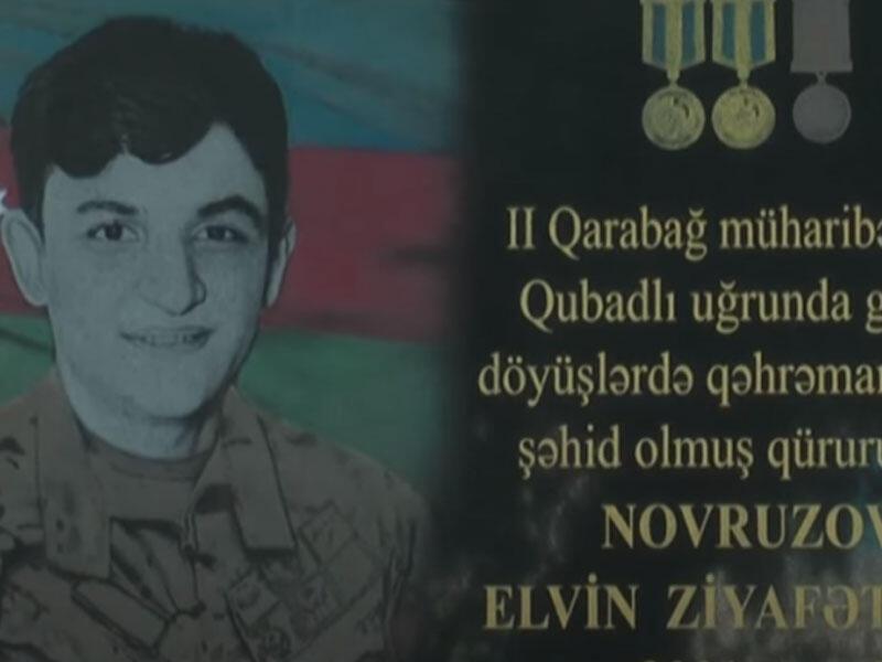 Dünən şəhid Elvin Novruzovun doğum günü idi - VİDEO