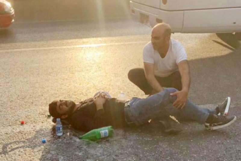 Bakıda yol qəzası baş verib, 3 nəfər yaralanıb - FOTO