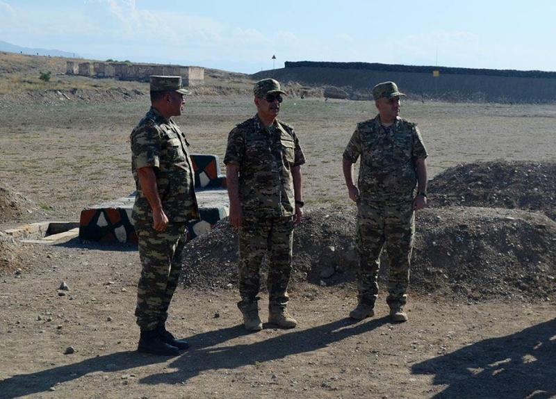 Nazir yeni açılmış hərbi obyektlərdə - FOTO