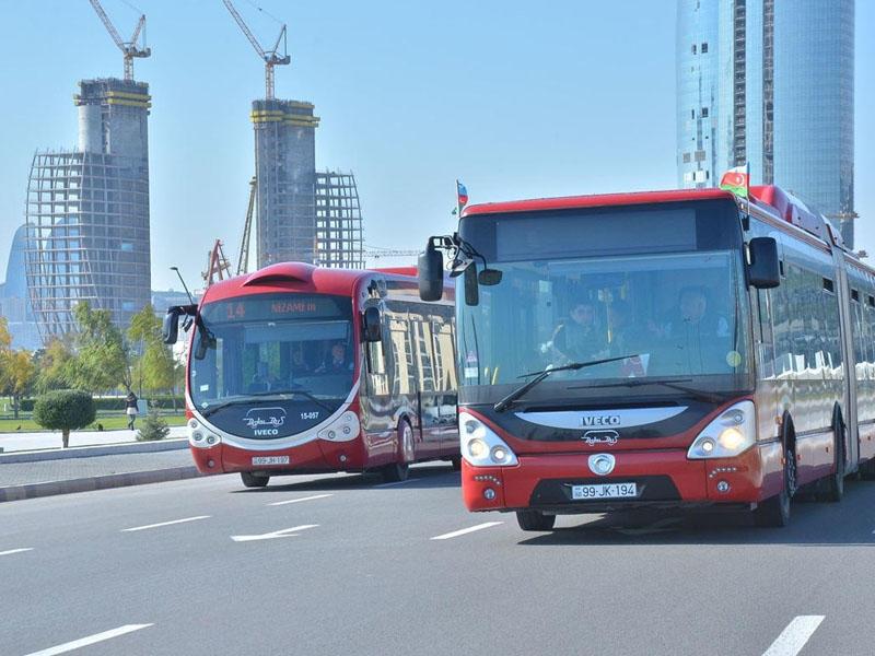 Bu gün bir sıra avtobus marşrutlarında  dəyişiklik olacaq