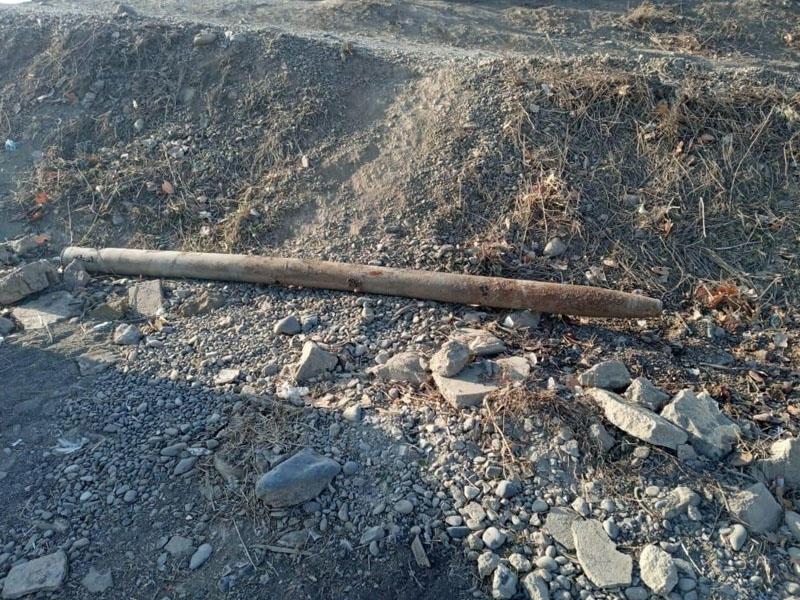 Bakı-Qazax yolunda raket tapıldı - FOTO