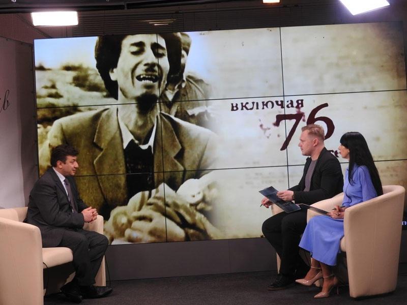 """Ukraynanın """"Novıy Çerniqov"""" telekanalında Xocalı soyqırımının ildönümü ilə bağlı veriliş yayımlanıb - FOTO"""