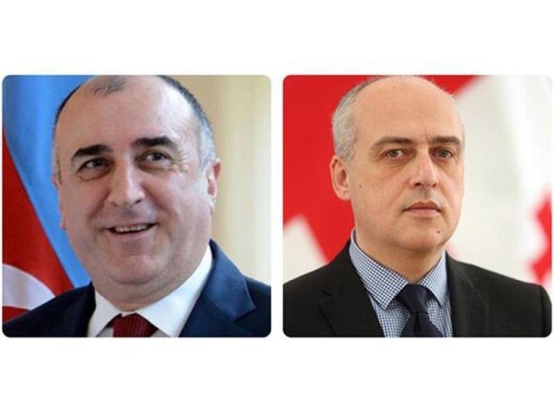 Azərbaycan və Gürcüstan XİN rəhbərləri arasında telefon danışığı olub
