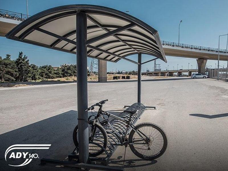 Dəmir yolu stansiyalarında pulsuz velosiped dayanacaqları quraşdırılır - FOTO
