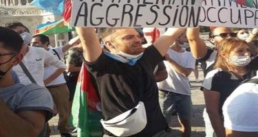 Elnur Hüseynov da erməni vəhşiliyinə etiraz etdi - FOTO