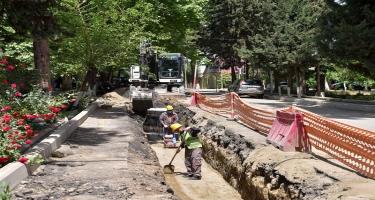 Qazaxda içməli su və kanalizasiya problemi həll edilir - FOTO