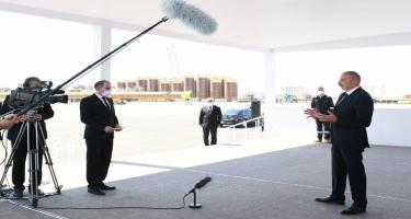 Azərbaycan Prezidenti: Cənub Qaz Dəhlizi bizim tarixi nailiyyətimizdir