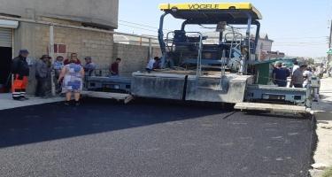 Masazırda küçələrə asfalt çəkilir - FOTO
