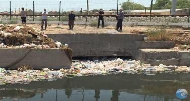 Görədil qəsəbəsində su kanalının zibilliyə çevrilməsi təsdiqləndi - FOTO