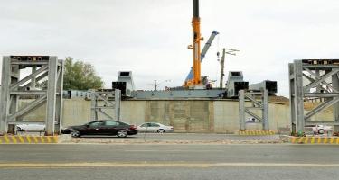 Xırdalan dairəsi yaxınlığında yeni dəmir yolu körpüsünün quraşdırılmasına başlanılıb - FOTO