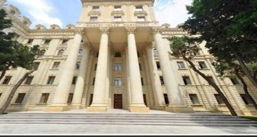 Azərbaycan XİN: Ermənistan tərəfinin sərgilədiyi destruktiv mövqe bu ölkəni uçuruma sürükləyib