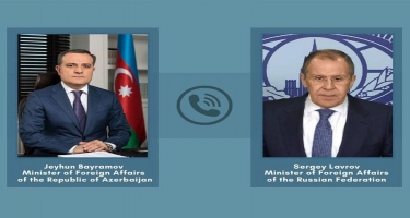 Ceyhun Bayramov və Sergey Lavrov telefonla danışıblar