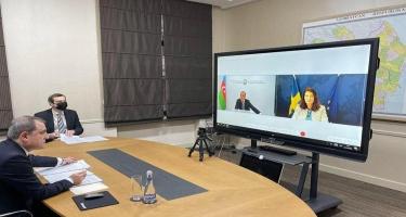 Ceyhun Bayramov və İsveç Krallığının xarici işlər naziri arasında görüş olub