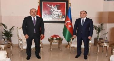 Ceyhun Bayramov Mevlüt Çavuşoğlu ilə görüşüb - FOTO