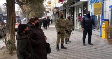 Polis ticarət obyektlərinə nəzarəti gücləndirdi - VİDEO - FOTO