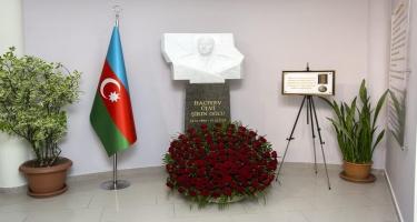 Vətən müharibəsində şəhidlik zirvəsinə ucalan gömrükçünün büstü qoyulub - FOTO