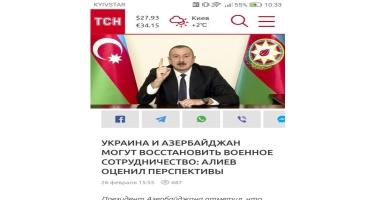 Ukrayna mətbuatı Prezident İlham Əliyevin mətbuat konfransını geniş işıqlandırıb