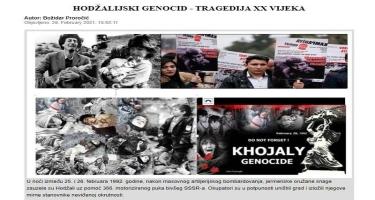 Xocalı soyqırımı XX əsrin faciəsidir - Monteneqro və Bosniya mediası - FOTO