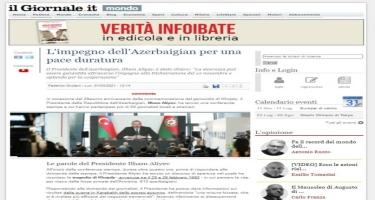 Prezident İlham Əliyevin mətbuat konfransında səsləndirdiyi fikirlər İtaliya mediasının da diqqət mərkəzində olub
