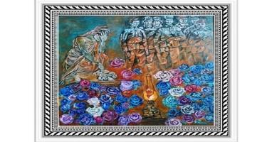 Belarusda rəssam Nailə Qəndilovanın Xocalı soyqırımına həsr olunmuş rəsm əsəri təqdim edilib