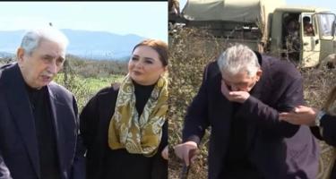 Arif Babayev illər sonra Ağdama gedib, torpağı öpdü