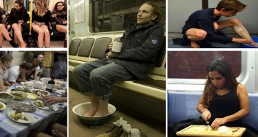 Dünya metrosundan MARAQLI FOTOLAR: təəccüblənməmək olmur...