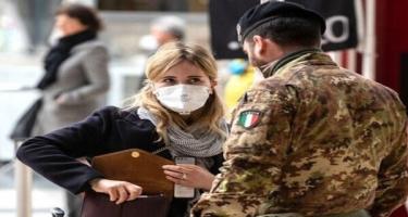 İtaliyada son bir gündə 13 844 nəfərdə koronavirus aşkar edilib