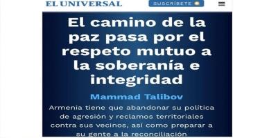 Meksika mətbuatında Ermənistanın hərbi cinayətləri haqda məlumat verilib