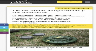Kolumbiya mətbuatı Qarabağda Ermənistanın apardığı kütləvi minalama haqda yazıb