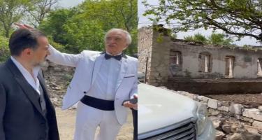Polad Bülbüloğlu Şuşada ata evinin bərpası haqqında danışdı - VİDEO