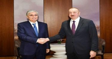 Prezident İlham Əliyev Qazaxıstan Prezidentinə telefonla zəng edib