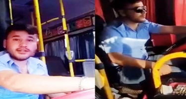 """""""TikTok"""" videosu çəkən avtobus sürücüsü işdən çıxarıldı"""