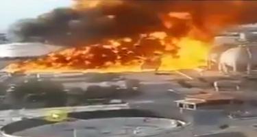 İranın poladəritmə zavodunda yanğın - VİDEO