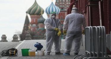 Rusiyada son sutkada 13 510 nəfər COVID-19-a yoluxub