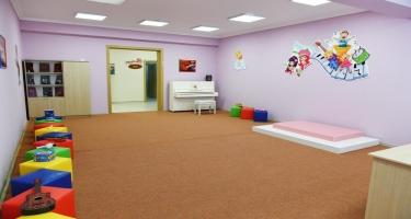 Prezident İlham Əliyev Naftalanda 200 yerlik körpələr evi-uşaq bağçasının istifadəyə verilməsi tədbirində iştirak edib - FOTO