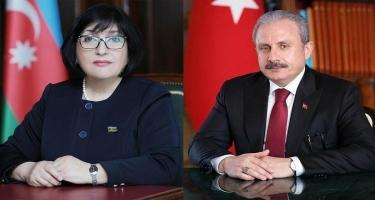 Mustafa Şentop Sahibə Qafarovaya zəng edib, azərbaycanlıların bayramını təbrik etdi