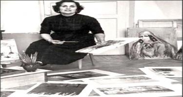 Professional təhsilli ilk azərbaycanlı qadın rəssam - FOTO