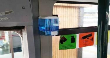 Avtobuslarda dezinfeksiya məhlulu yoxa çıxıb - Açıqlama