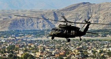 """""""Taliban"""" tərcüməçini helikopterdən asaraq göz dağı verdi"""