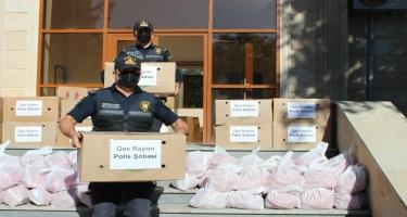Qaxda polis əməkdaşları şəhid ailələrini  ziyarət edib - FOTO