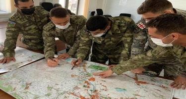 Azərbaycan, Türkiyə və Gürcüstan hərbi təlimi davam edir - FOTO