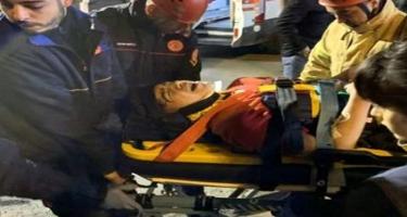 Sükan arxasına keçən 14 yaşlı uşaq qəza törətdi, ayağı qopdu - VİDEO - FOTO