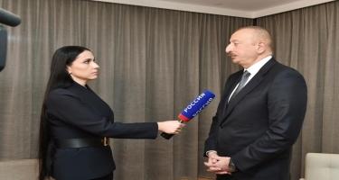 """Azərbaycan Prezidenti İlham Əliyevin Rusiyanın """"Rossiya-24"""" televiziya kanalına müsahibəsi - VİDEO - FOTO"""